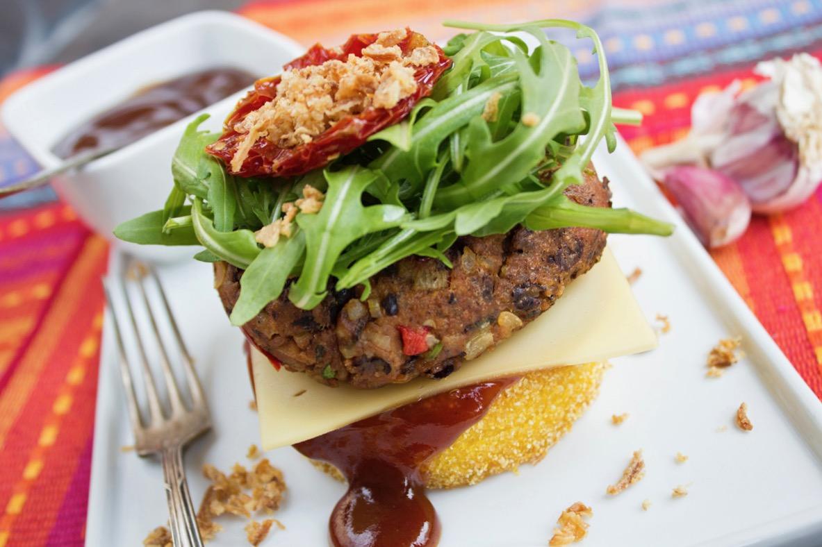 Veganer Tex Mex Burger